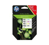 Inkcartridge HP C2P43AE 950XL 951XL zwart + 3 kleuren HC