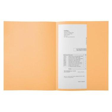 Dossiermap Exacompta Super 160gr 1klep lichtoranje