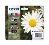 Inkcartridge Epson 18XL T1816 zwart + 3 kleuren HC