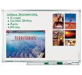 Whiteboard Lega Professional 90x120cm magnetisch emaille