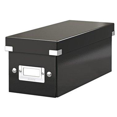 Cd box Leitz Click en Store 143x136x352mm zwart