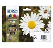Inkcartridge Epson T1816 zwart + 3 kleuren