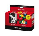 Inkcartridge Lexmark 80D2951 32 + 33 zwart + 4 kleuren