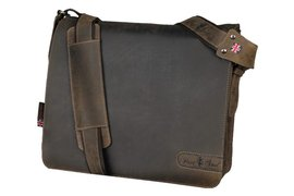 "Laptoptas Rillstab Pride And Soul 14.1"" leer bruin"