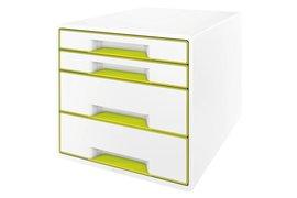 Ladenbox Leitz 5213 WOW 4 laden wit/groen