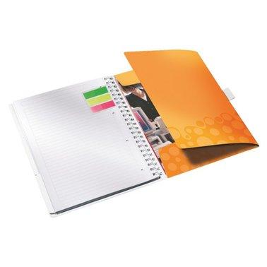 Notitieboek Leitz WOW Bi Mobile A4 PP lijn oranje