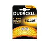 Batterij Duracell knoopcel 357H zilver oxide Ø11,6mm 2 stuks