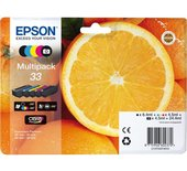 Inkcartridge Epson 33 T3337 2x zwart + 3 kleuren