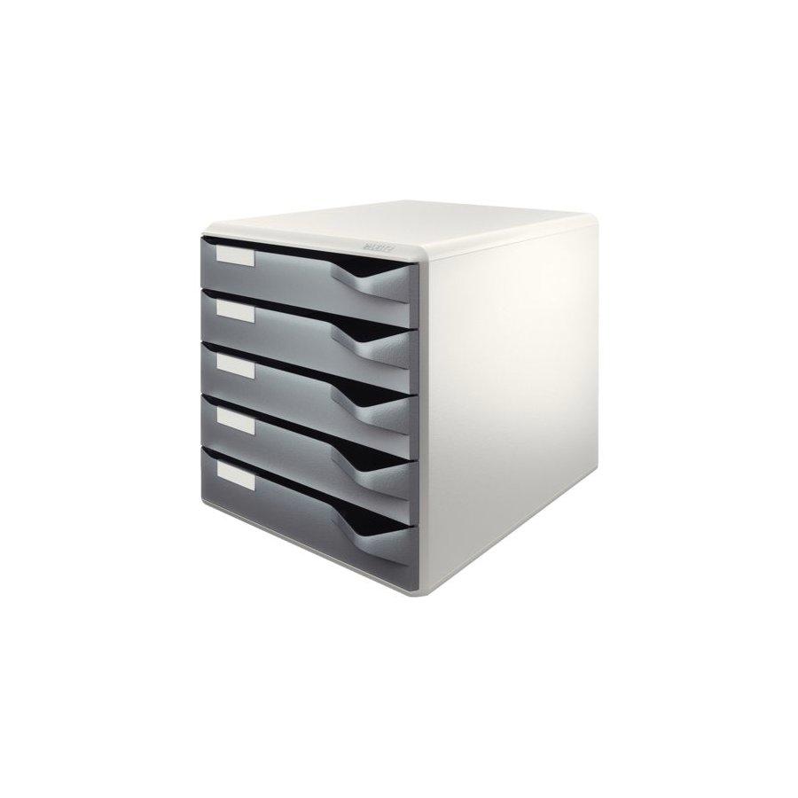 Ladenblok leitz 5280 5 laden grijs bestel uw ladenblok for Ladenblok 10 laden