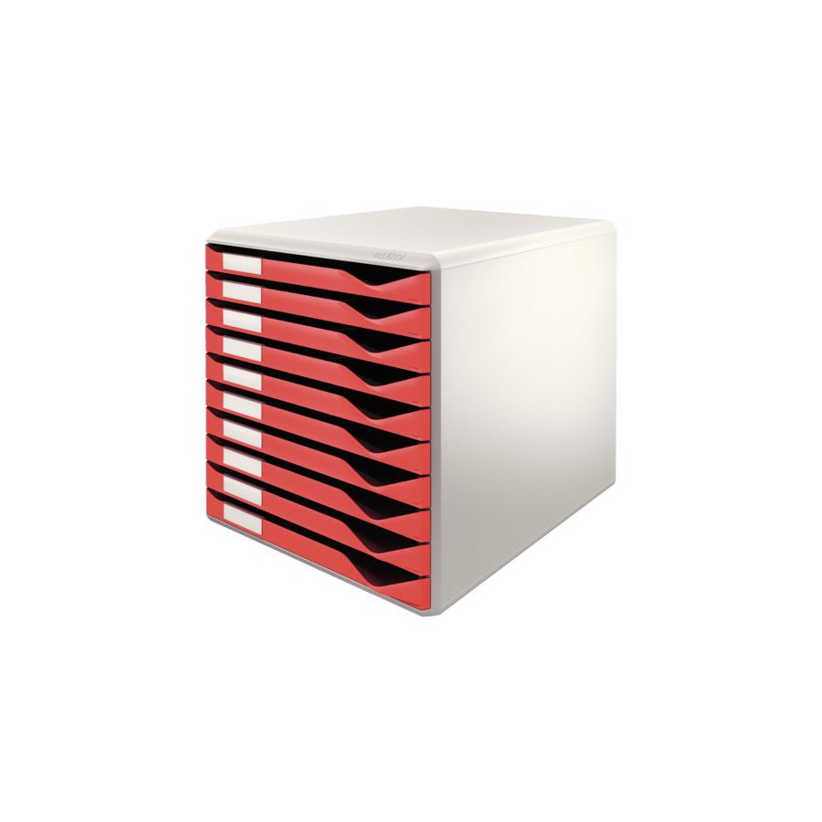 ladenblok leitz 5281 10 laden rood all office van lint