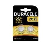 Batterij Duracell knoopcel CR2025 lithium Ø20mm 3V-170mAh