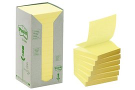 Memoblok 3M Post-it Z-Note R330-1T 76x76mm recycled geel