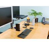 Kensington SmartFit™ dubbele monitorarm voor zuilmontage
