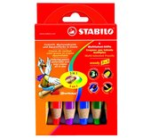 Kleurpotloden Stabilo Woody 880 6stuks assorti
