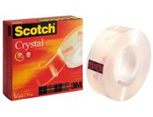 SCOTCH® 600 Crystal clear tape 19 mm x 33 m, asgat 25 mm (rol 33 meter)