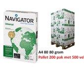 Pallet kopieerpapier navigator universal a4 80gr wit 500vel