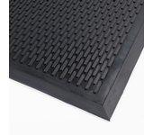 Rubbermat schuine rand 7mm dik 90x150cm zwart