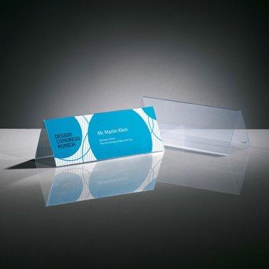 Tafelnaambord Sigel TA130 240x90mm 2-zijdig transparant