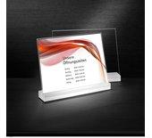 Tafelstandaard Sigel TA311 Frozenacryl A4 Liggend glashelder